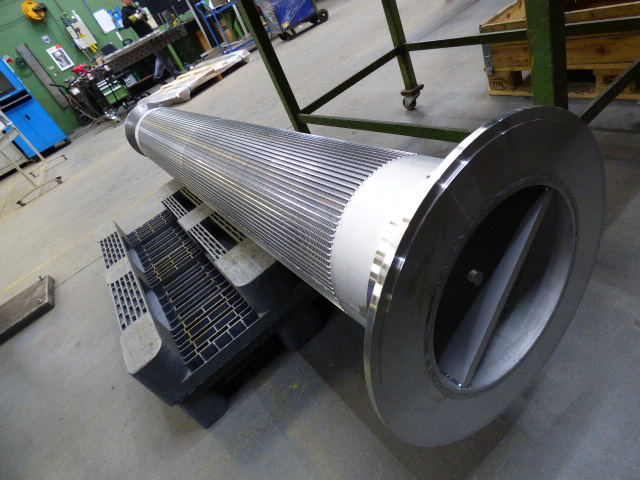wedge wire scrubber tube