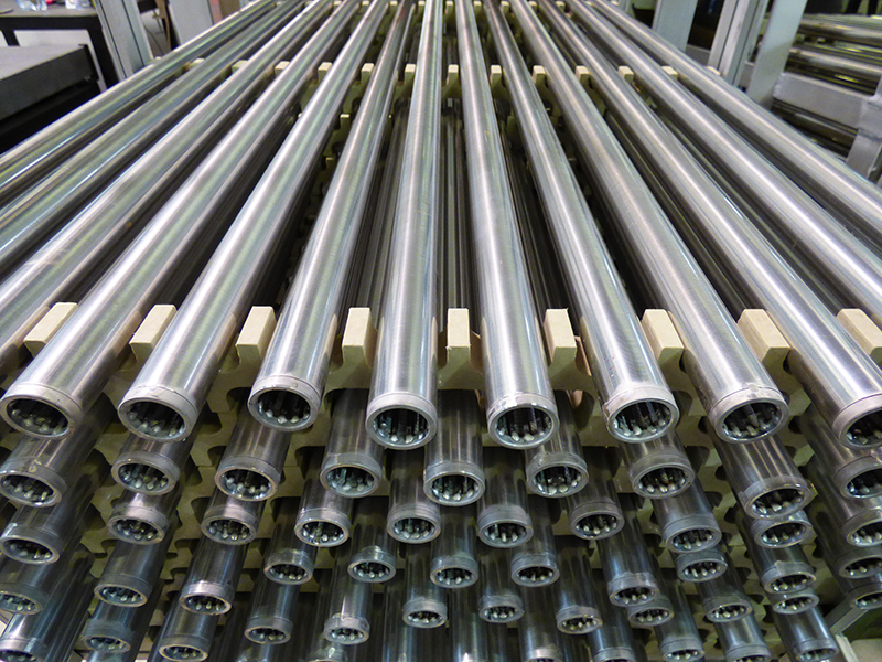 slot tubes for feedstock filtration