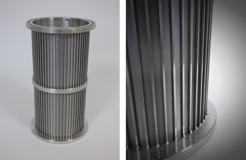 wedge wire slot tube radial internal wire